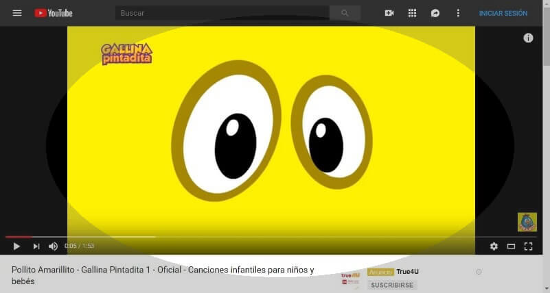 video infantil de youtube