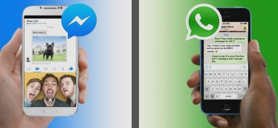 pasar video de Messenger a WhatsApp