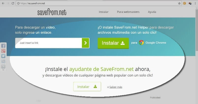 descargar video infantil con SaveFrom