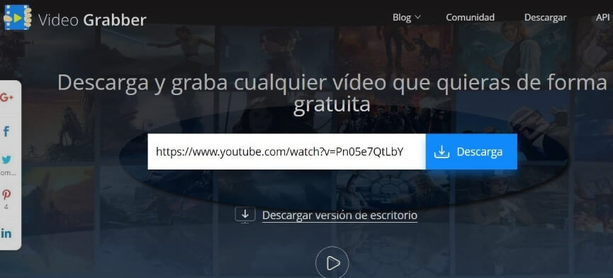 descargar video de google con VideoGraber
