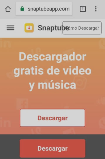 descargar video con Snaptube