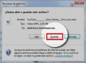 guardar video descargado